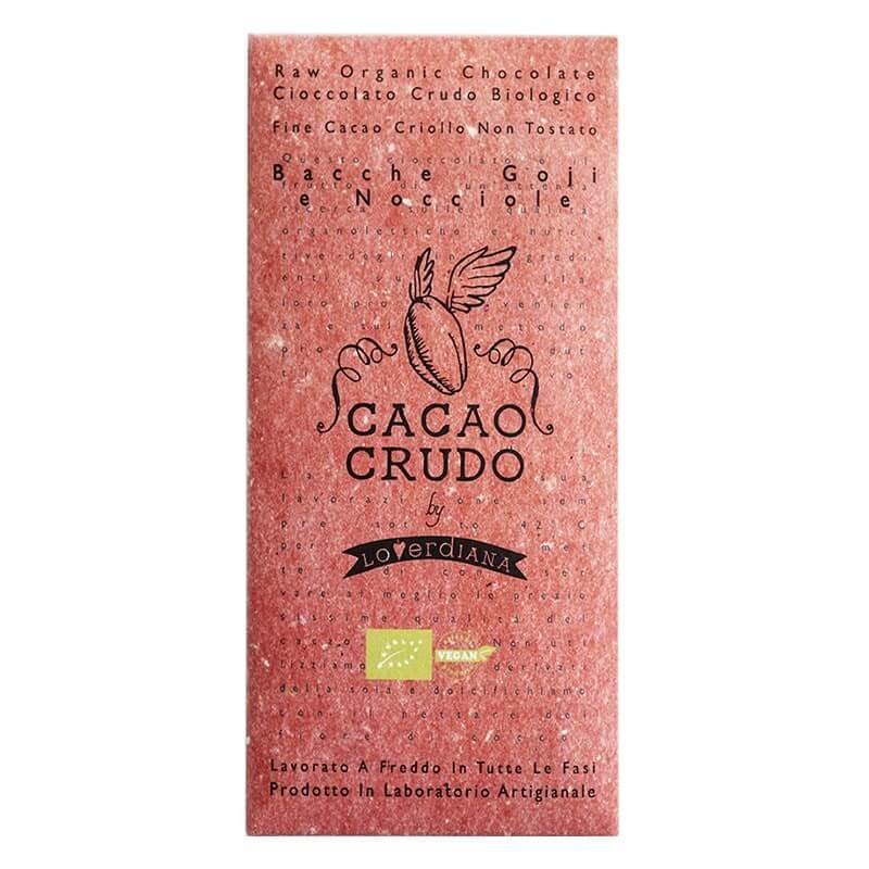 Cioccolato Crudo alle Bacche Goij e Nocciole