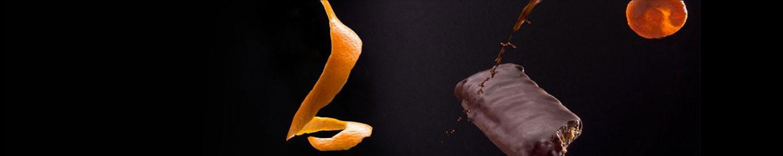 Barrette di frutta ricoperta